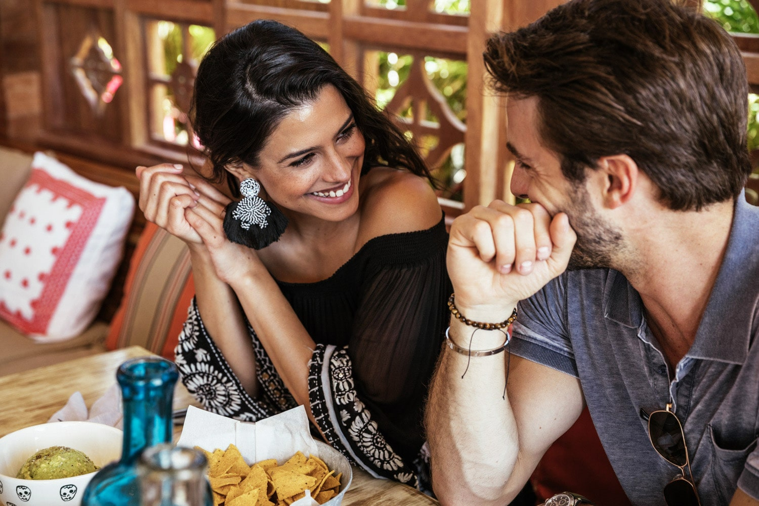 Dining with friends and family at Casa Calavera Los Cabos over authentic Mexican cuisine.